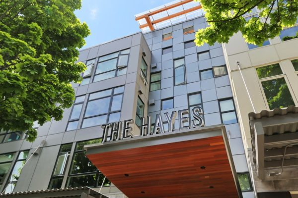 Exterior view of the Hayes on Stone Way apartments